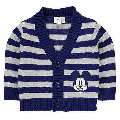 Bnwt Babies Disney Mickey Mouse Striped Cardigan Size 9-12 Months