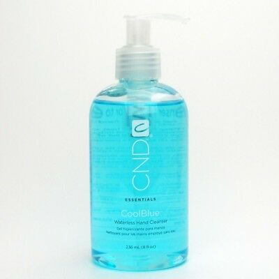 CND Coolblue Cool Blue Waterless Hand Cleanser 8 fl oz Sanitizer 236 mL NEW!