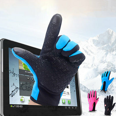 Men Women Outdoor Climbing Cycling Sports Full Finger Touch Screen Gloves EA