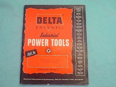 1957 Delta Rockwell Industrial Power Tools Catalog 87 Pages