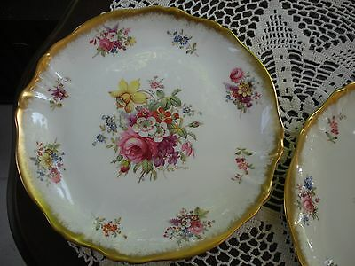 "#1 of 2 Hammersley LADY PATRICIA Bone China 9 1/2"" Luncheon Plate, Signed, MINT"