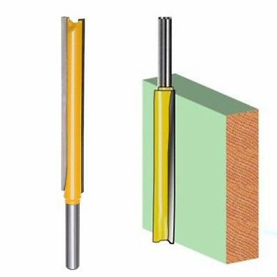 """1 pc 1/4"""" Shank Diameter Double Flute 3"""" Blade Extra Long Straight Router Bit"""