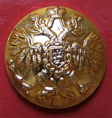 10 Small Russian Official Uniform Buttons Imperial Double-Headed Eagle Golden