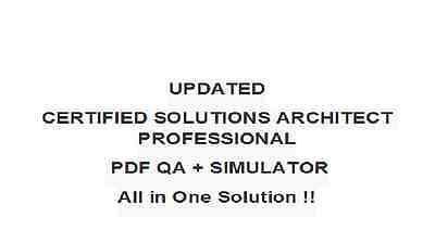 AWS-Certified-Solutions-Architect-Professional Exam QA PDF&Simulator