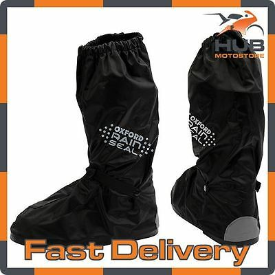 Oxford Rainseal Waterproof Motorcycle Motorbike Over Boots - Black