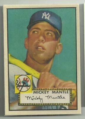 Micky Mantle Rc Reprint 1952 Rookie Awesome Reprint