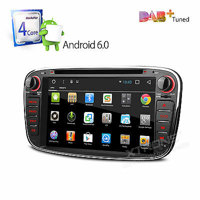 HD DVD GPS Autoradio Navigation Android 4.4 3G DAB+ für FORD Mondeo FOCUS GALAXY