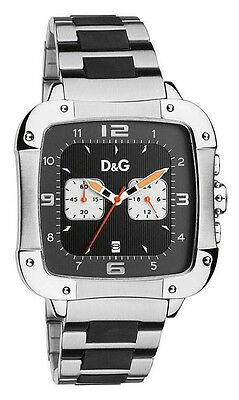 Dolce & Gabbana Men's DW0247 Stainless-Steel Quartz Watch with Black Dial