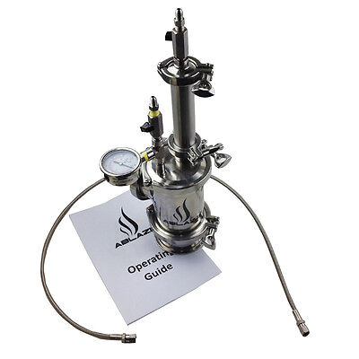 Mini Closed Loop Extractor 45g Capacity With Splatter Platter and Sight