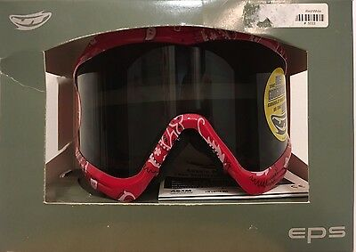 JT Bandanna Proflex Paintball Mask Frame Smoke Thermal Spectra Goggle Red White