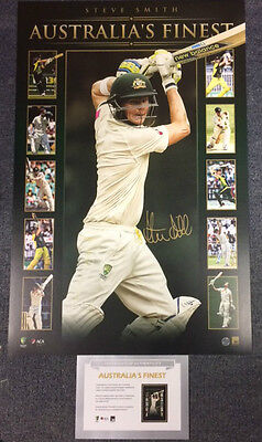 Steve Smith Hand Signed Australia's Finest Official Cricket Print
