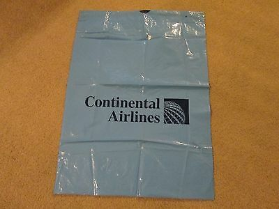 CONTINENTAL AIRLINES...17 1/2in x 24in...PLASTIC BAG...