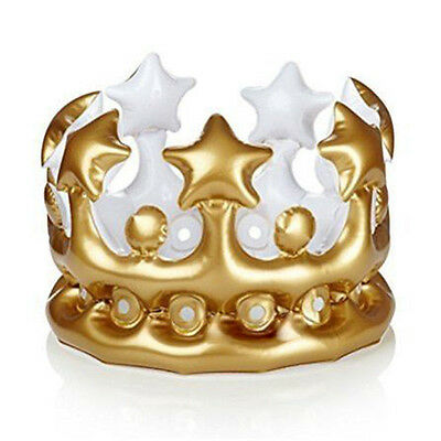 K9 Inflatable Gold Crown King Queen The Day Party Halloween Birthday Decor