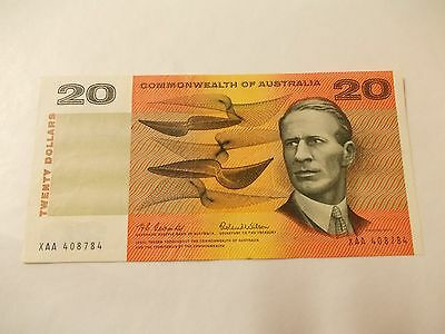 $20-Commonwealth Of Australia-First Prefix-Xaa-A/unc-R401F-Coombs Wilson-1966