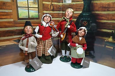 Byers' Choice Carolers Williamsburg Colonial Music Performers Set of 4 Musicians