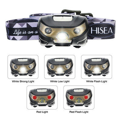 Super Brillant Mini Headlamp Rechargeable Lampe Frontale Headlight 200lm 5 Mode