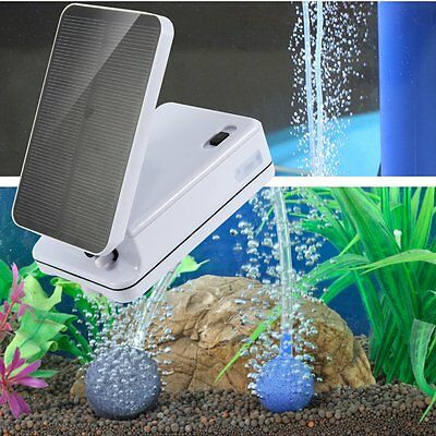 Portable Solar Power Panel Oxygen Oxygenator Air Pump Aerator Pool Pond For Fish