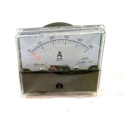 Brand New Analog Amp Panel Meter Current Ammeter DC 0-50A + Shunt High Quality