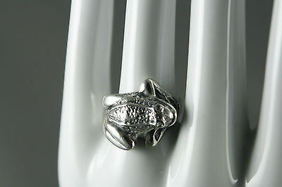 Vtg Frog Ring 925 Sterling Silver Mexico 6.5g Size 7.5