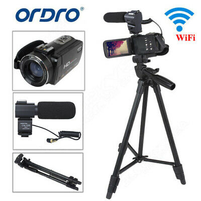 "FHD 1920*1080P Digital Video Cam 3"" LCD 16x Zoom Camcorder DV 24MP DVR +Tripod"