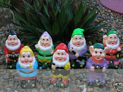 7 dwarfs gnomes fairy garden ornaments cement plaster craft latex moulds molds