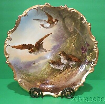"""Antique French Limoges Large Charger Artist Signed Dubois  15 3/4"""""""