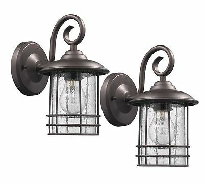 porch outdoor patio wall exterior lighting sconce light fixture lamp rub bronze