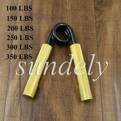 Gold Metal Hand Grip Grippers Forearm Strengthener Palm Grippers 100-350LBS
