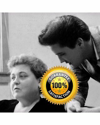 ELVIS PRESLEY+GLADYS PRESLEY*1958 Touching Photo of Mother & Son*FREE SHIPPING