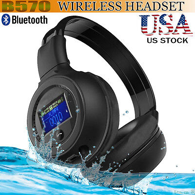 B570 Bluetooth 3.0 Wireless Foldable Stereo Mic Microphone Headset Headphones
