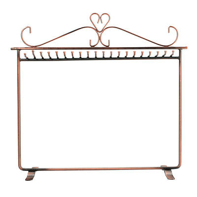 Women's Delicate Necklaces Earrings Bronze Display Rack Jewelry Holders Stand