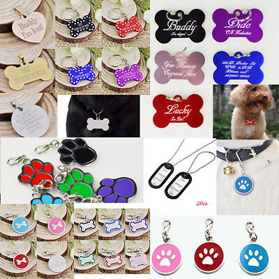 Personalised Engraved Bone Collar Pet Dog Cat Name Identity Disc ID Tag Custom