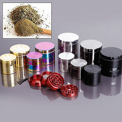 Hand Crank Spice Herb Mill Crusher Grinder Pollinator Magnetic 40mm/50mm/55mm