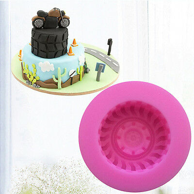 Silicone 3D Tire Wheel Chocolate Cake Mold DIY Fondant Mould Cookie Decoration