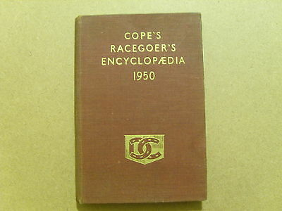 1950 Cope's Racegoers Encyclopedia - Vintage Horse Racing Information Book