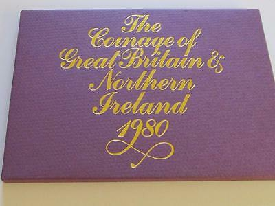 Royal Mint Proof Coin Set 1980 - Great nearly 37 Year Old Set in good condition