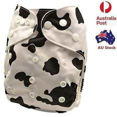 Cow Design MCN Ultra Dry Unisex Nappy Reusable Quality Modern Cloth Nappy (D146)