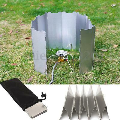 2pcs Foldable 10 plates Fold Camping Cooker Gas Stove Wind Shield Screen Outdoor