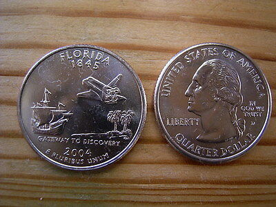 "2004d  usa state  quarter ""florida"" dollar coin collectable"