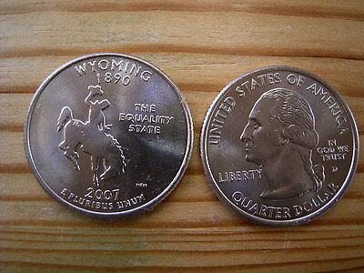 "2007d  usa state  quarter ""wyoming"" dollar coin collectable"