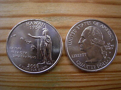 """2008d  usa state  quarter """"hawaii"""" dollar coin collectable"""