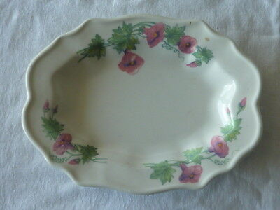 Enoch Wedgwood (Tunstall) Ltd Oval Sandwich Or Biscuit Plate Floral