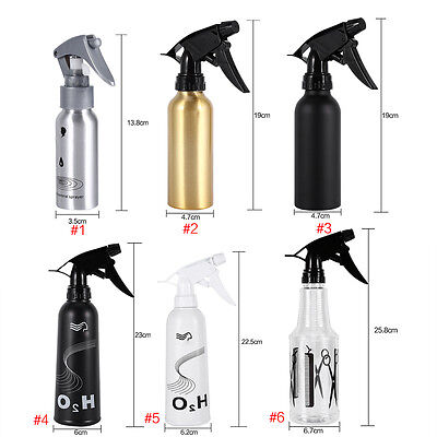 6 Types Salon Hair Spray Empty Bottle Hairdressing Flowers Plant Water Sprayer