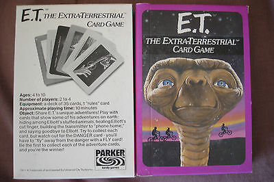 ET THE EXTRA TERRESTRIAL CARD GAME by PARKER