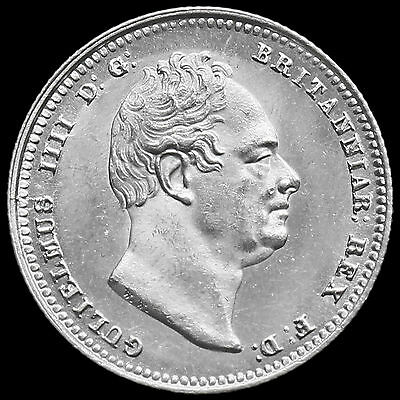 1836 William IV Milled Silver Shilling – Uncirculated
