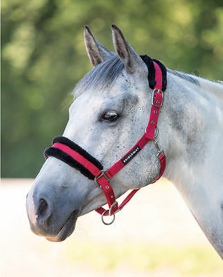 NEW Bridleway Fleece Lined Fluffy Adjustable Padded Comfort Headcollar All Sizes
