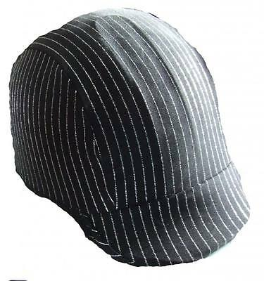 Ecotak lycra helmet cover - Black with silver stripes