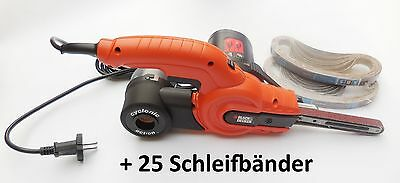 Black & Decker Powerfeile KA900E, neues Modell inkl. 24tlg. Schleifbandsortiment