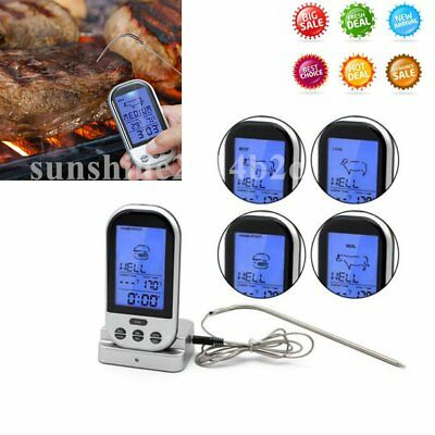 Digitales Bratenthermometer Funk Grillthermometer Fleisch-Thermometer wireless L