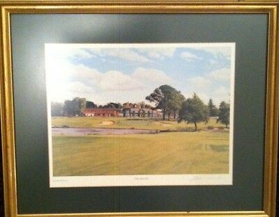 Belfry (Brabazon) Ryder Cup 18th Hole signed And Framed Baxter Golf Print 1989